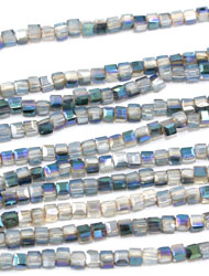 2mm Cube Crystal Beads
