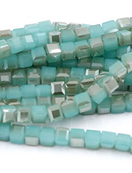 4mm Cube Crystal beads