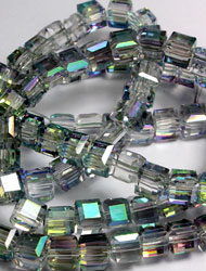 6mm Cube Crystal beads