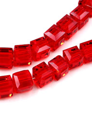 8mm Crystal Cube beads