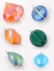Faceted Crystal Connector Charms