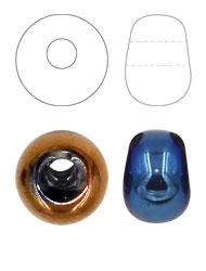 Earring Shaped glass beads
