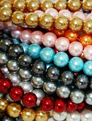 Round Glass Pearl Beads
