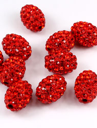 Oval Pave Beads