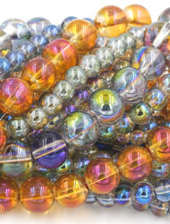 Electorplated Glass Beads