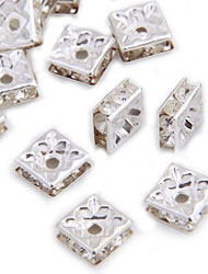 Square Rondelle Spacer Beads
