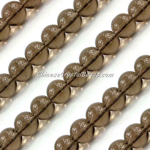 Chinese 10mm Round Glass Beads gray, hole 1mm, about 33pcs per strand