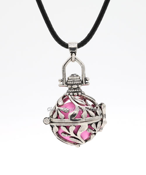 "Harmony Ball Pendant Women Necklace with 30""Chain For Pregnant Women, antique silver plated brass, 1pc"
