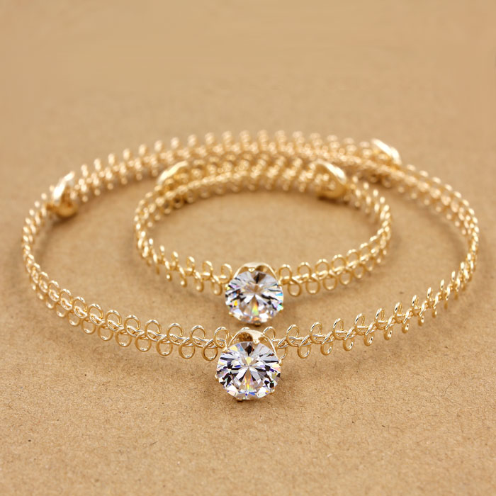 90's Tatto Choker sets, AAA 12mm Zircon crystal stones, gold color,1 pc