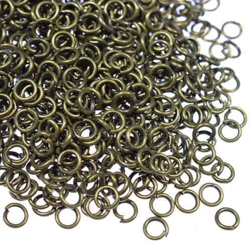 Open Jump Rings Connector, antique bronze plated, 4mm, 5mm, 6mm, 7mm, 8mm, 10mm jewelry findings DIY