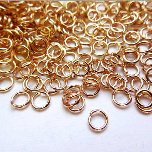 Open Jump Rings Connector, rose gold plated, 4mm, 5mm, 6mm, 7mm, 8mm, 10mm jewelry findings DIY