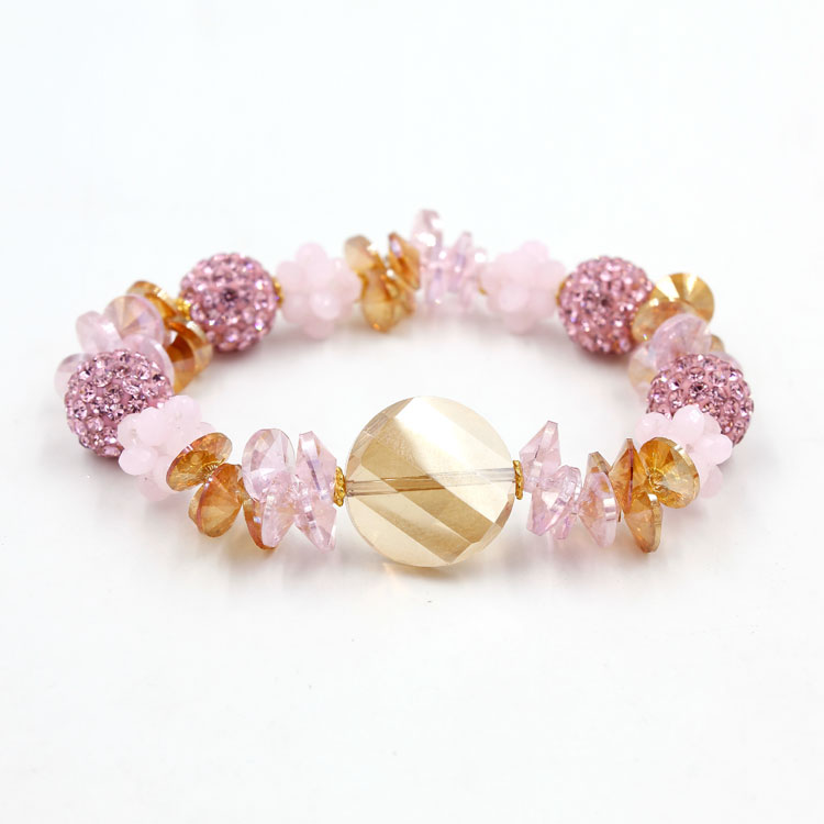 Pink crystal bracelet DIY kits