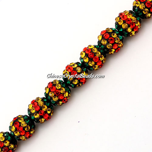 Pave (clay) disco beads, hip hop disco beads, stripe1, hole: 1.5mm, sold per pkg of 10pcs