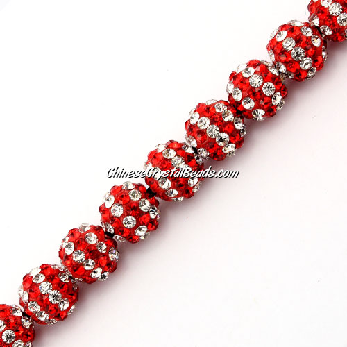 Pave (clay) disco beads, hip hop disco beads, stripe5, hole: 1.5mm, sold per pkg of 10pcs