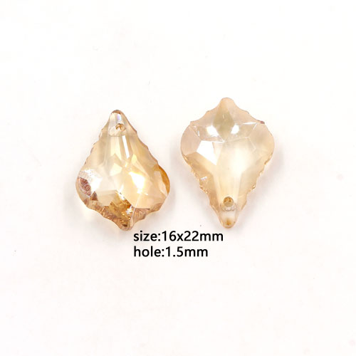 1 Pc Chinese Crystal 6090 Baroque Pendants, 15x22mm, golden shadow