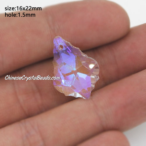 1Pc Chinese Crystal 6090 Baroque Pendants, 15x22mm, clear AB
