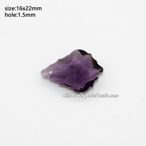 1Pc Chinese Crystal 6090 Baroque Pendants, 15x22mm, Violet