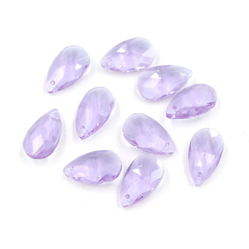 10Pcs 16x9mm Crystal beads Faceted Teardrop Pendant, Alexandrite, hole: 1mm