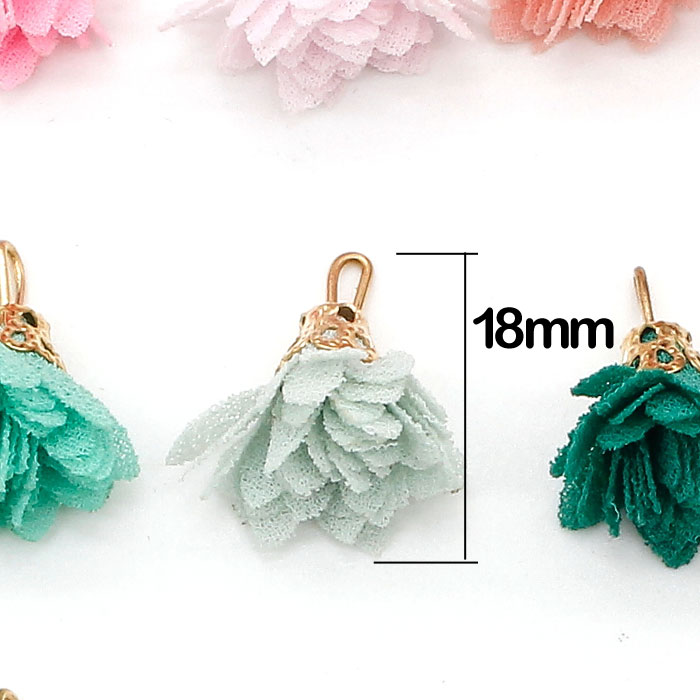 20Pcs 25mm flower Tassels, mixed color