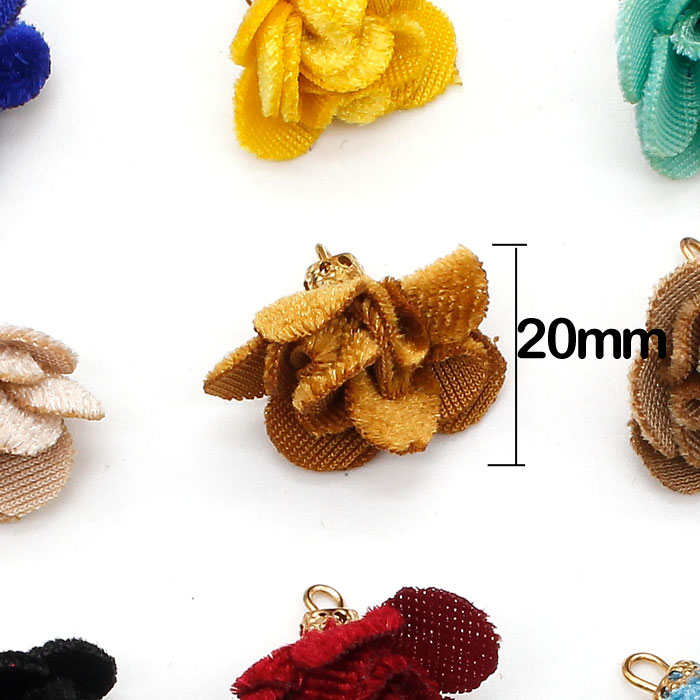 20Pcs 20mm flower Tassels, mixed color