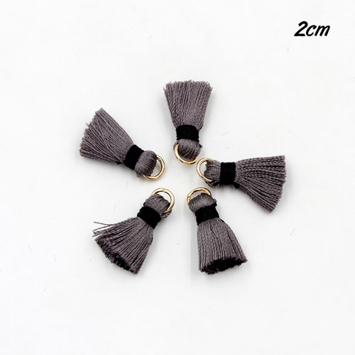 10 pcs  20mm mini Thick Silky Tassels, 30 color you can choose