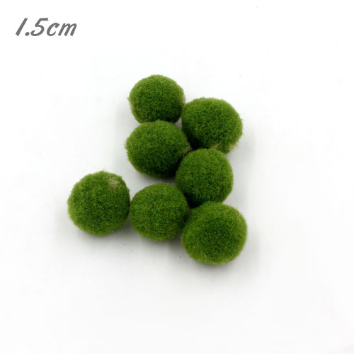 50Pcs 15mm Craft Fluffy Pom Poms Bobble ball, Olive green color