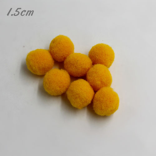 50Pcs 15mm Craft Fluffy Pom Poms Bobble ball, gold color
