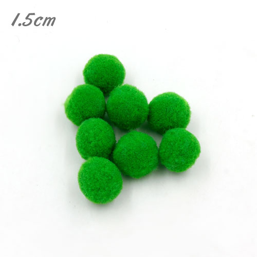 50Pcs 15mm Craft Fluffy Pom Poms Bobble ball, green color