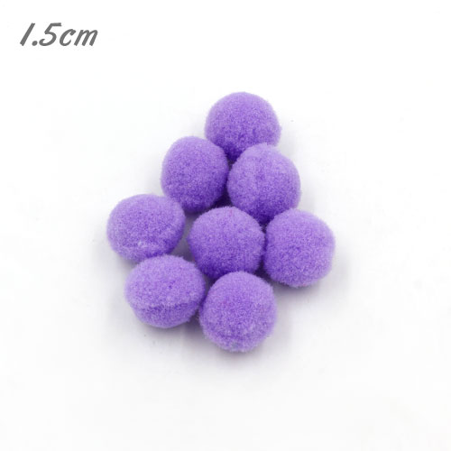 50Pcs 15mm Craft Fluffy Pom Poms Bobble ball, iris color