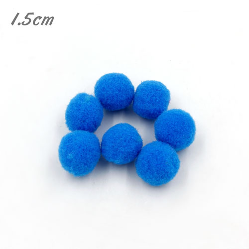 50Pcs 15mm Craft Fluffy Pom Poms Bobble ball, cyan color