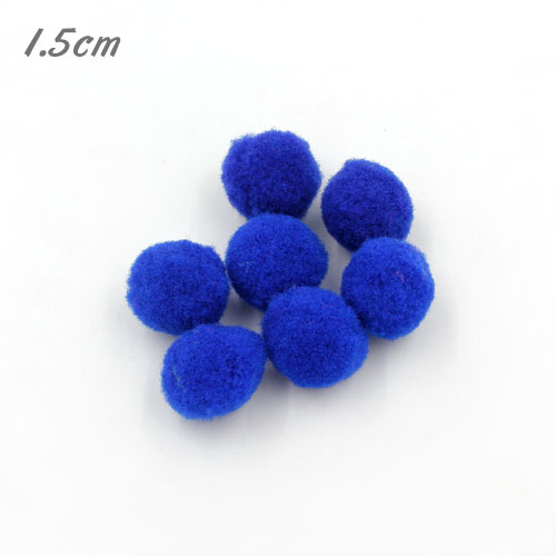 50Pcs 15mm Craft Fluffy Pom Poms Bobble ball, navy blue color