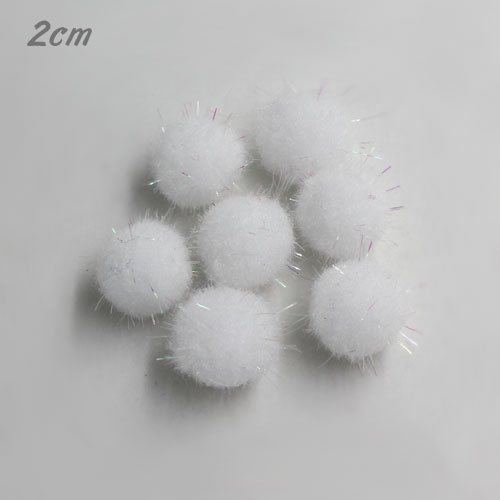 50Pcs 20mm Craft Fluffy Pom Poms Bobble Craft diy, white color