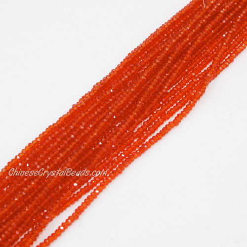 1.5x2mm rondelle crystal beads, hyacinth, 190Pcs