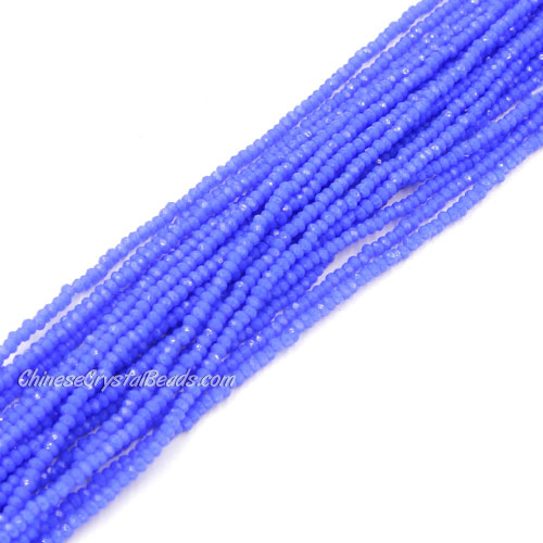1.5x2mm rondelle crystal beads, opaque med sapphire, 190Pcs