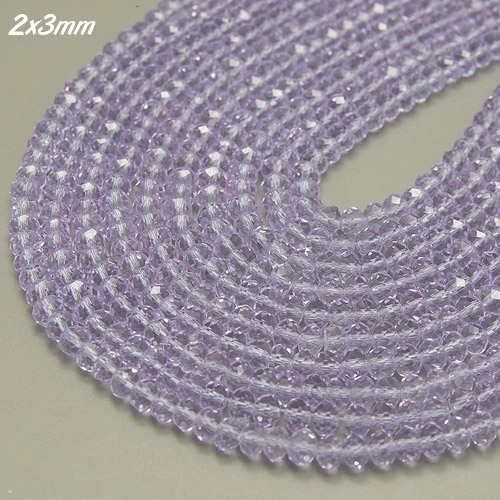 2x3mm Chinese Crystal Rondelle Beads, Alexandrite, about 150 Beads