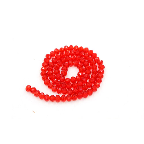 2x3mm Chinese Crystal Rondelle Beads, lt siam, about 150 beads