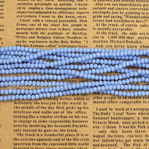 2x3mm Chinese Crystal Rondelle Beads, opaque med sapphire, about 150 Beads