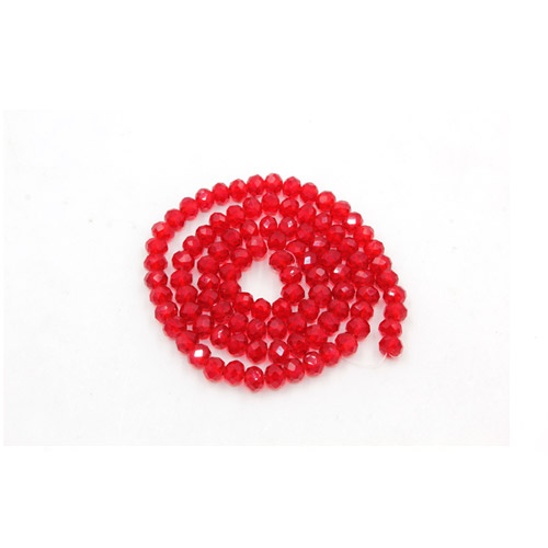 2x3mm Chinese Crystal Rondelle Beads, Siam, about 150 Beads