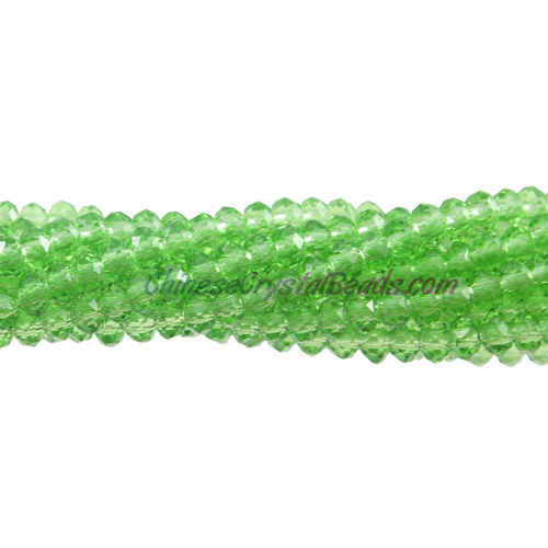 2x3mm Chinese Crystal Rondelle Beads, Green,about 150 Beads