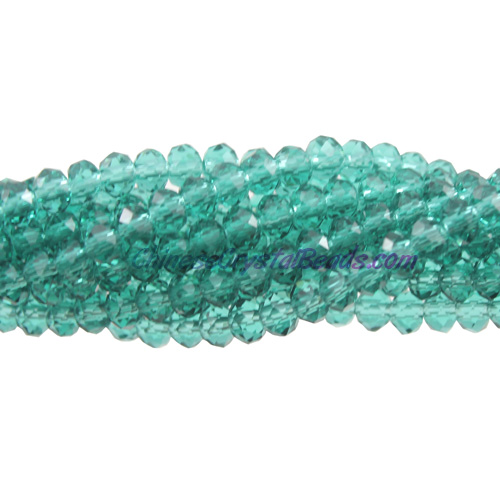 2x3mm Chinese Crystal Rondelle Beads, emerald,about 150 Beads