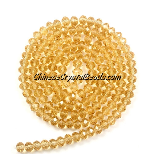 2x3mm Chinese Crystal Rondelle Beads, G. Champagne,about 150 Beads