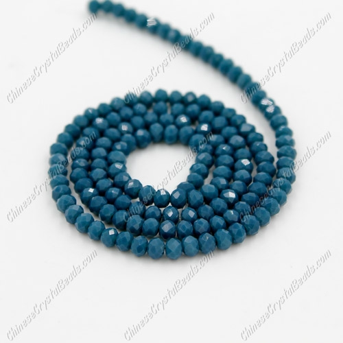 2x3mm Chinese Crystal Rondelle Beads, opaque dark blue , about 150 beads