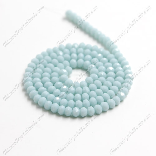 2x3mm Chinese Crystal Rondelle Beads,  opaque lt aqua , about 150 beads