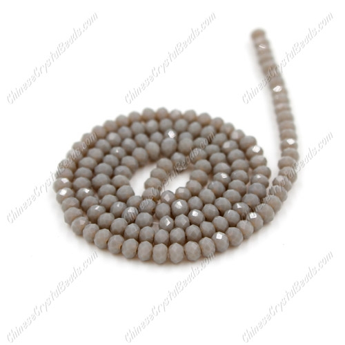 2x3mm Chinese Crystal Rondelle Beads, opaque lt gray , about 150 beads
