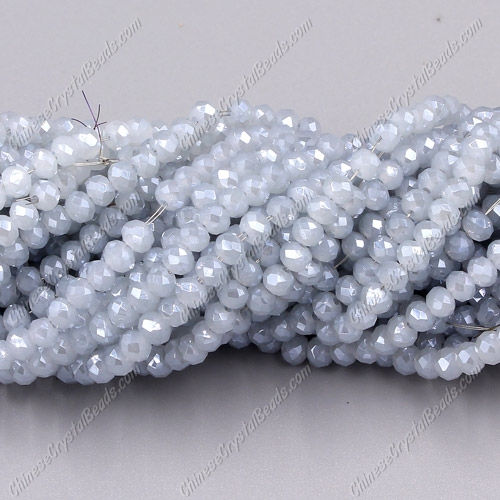 2x3mm Chinese Crystal Rondelle Beads, gray and blue jade ,about 145 beads