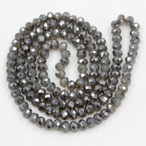Chinese Crystal Rondelle Beads, opal glay light, 3x4mm , about 150 beads