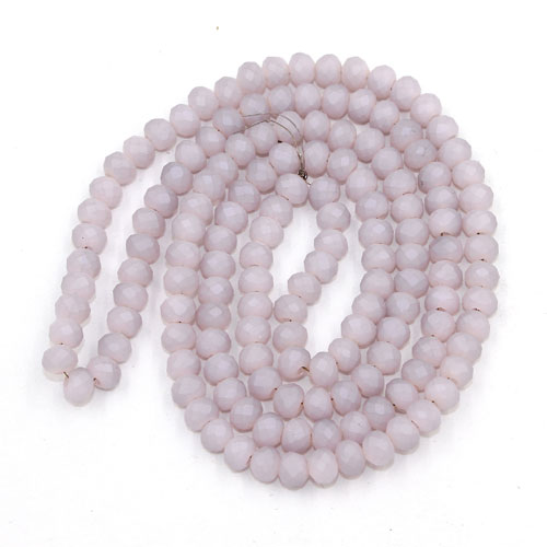 145Pcs 3x4mm Chinese Crystal rondelle beads, opaque Matte pink