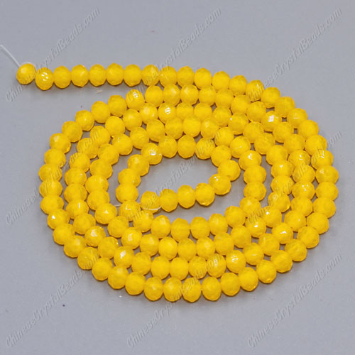 145 Pcs 3x4mm Chinese Crystal Rondelle Beads, amber jade