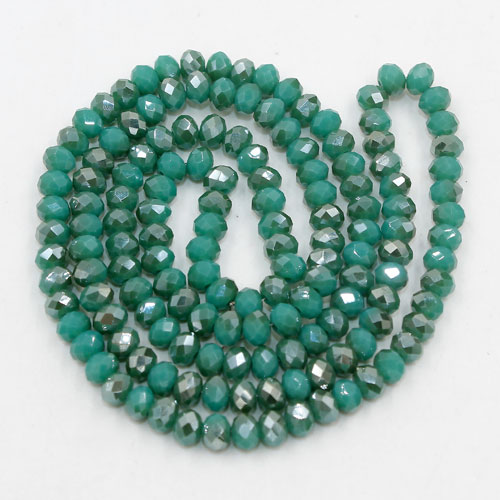 Chinese Crystal Long Rondelle Strand, 3x4mm, #98 , about 150 beads
