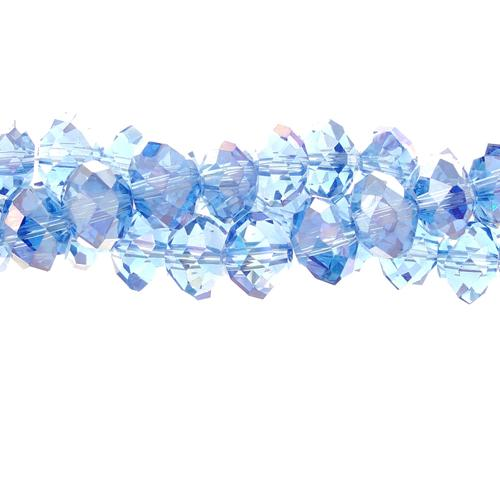 70 pieces 7x10mm, Chinese Crystal Rondelle beads Strand, lt sapphire